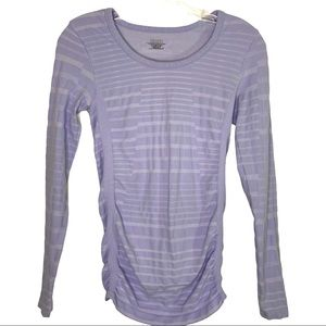 Athleta Pire Ruched Top Splice Aster in Lavender